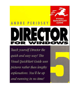 Director 5 for Windows (Visual QuickStart Guides) by Persidsky, Andre Paperback