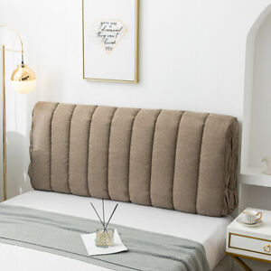 """Thicken""""Cotton Fine Linen"""" Bed Headboard Cover Soft Bed Head Protector Slipcover"""