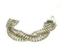 Vintage Lisner Crystal Rhinestone Bracelet