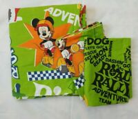 Disney Mickey Mouse Road Rally Full Flat Sheet 2 Pillowcases Motorcycle 85 x 100