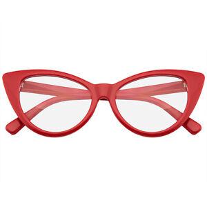 GLASSES Super Cat Eye Glasses Vintage Inspired Fashion Mod Clear Lens Eyewear