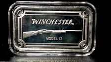 Winchester Rifle Model 12 Silver 1 oz. Bar in Airtight Plastic Case