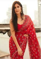 Women HandMade Print Cotton Sari Mulmul Saree Blouse Piece - Katrina Kaif Design