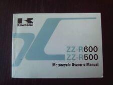 Kawasaki ZZ-R 500 600 ZZ-R500 ZZ-R600 1989 Fahrer-Handbuch Owner's manual
