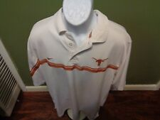 TEXAS LONGHORNS Men's Nike Polo Dress Shirt Dri-fit SIZE XL WHITE