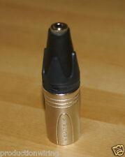 Stereo 3.5mm Socket Mini Jack to 3 Pin Male XLR Converter Adapter Plug VXLR