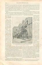 Accident Chemin de Fer Gare de Montparnasse à Paris GRAVURE ANTIQUE PRINT 1895