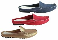 Brand New Andacco Trudi Womens Comfort Flat Leather Mules Loafers Made In Brazil