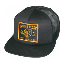 Lucky 13 Snapback Hat Baseball Cap Trucker Panther Tattoo Hot Rod Biker Black