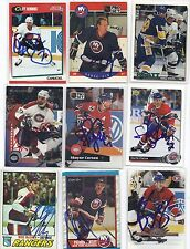 1990 Pro Set #185 Derek King Signed Autographed Hockey Card New York Islanders