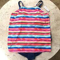 Cole Of California Womens 2 Piece Swimsuit Set Size 24 W Built in Shelf Bra