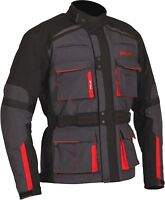 Weise Bora Mens Gunmetal Red Textile Armoured Motorcycle Jacket New RRP £199.99!