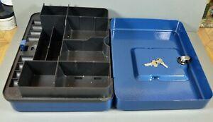 Helix Large Strong Box, Money Box, Safe Box, Petty Cash Ect VGC 2 Keys