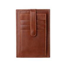 ANTICA TOSCANA Porta carte di credito uomo sottile in Pelle Terracotta a bottone