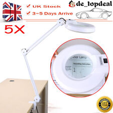 Desk Table Top 5X Magnifying Magnifier Lamp Light Glass Beauty Nail Salon New