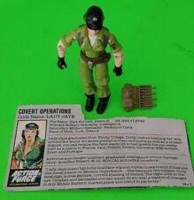 VINTAGE GI JOE ACTION FORCE FIGURE LADY JAYE 1985 = OVER 100 FIGURES TO LIST=