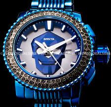 Invicta Men Sea Hunter Skull NH35A Automatic 24J Silver Dial Blue Bracelet Watch