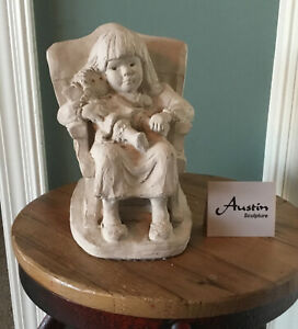 """Vintage AUSTIN Sculpture 1987 """"Bright Eyes Collection""""  """"Rock A bye Baby"""""""
