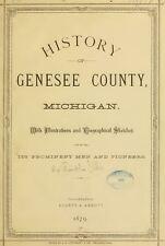 1879 GENESEE County Michigan MI, History & Genealogy Ancestry Family DVD CD B07