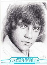 2017 Star Wars Galactic Files Reborn Sketch Card Luke Skywalker by Andrew Fry