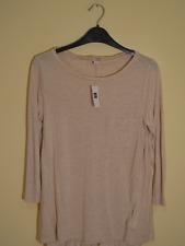 New! Gap women's oatmeal pocket t-shirt - Small - jersey long sleeve stretch