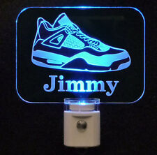 Personalized Tennis Shoe Sneaker LED Night Light - LED Lamp- Kids, Teens