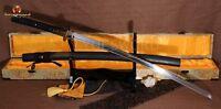 CLAY TEMPERED FOLDED STEEL JAPANESE SAMURAI SWORD KATANA FULL TANG SHARP BLADE