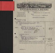 ZITTAU Sa., Rechnung 1931, Gerb- u. Farbstoff-Extrakt-Werke Grünberger & Seidel