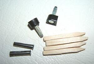 """5/16"""" 8mm 115 pin BLACK METAL STILETTO HIGH HEEL SHOE TOPS TIPS PIN TUBES KIT"""