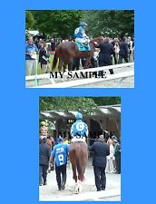 "2 SMARTY JONES 2004 BELMONT STAKES HORSE RACING 8"" by 10"" PHOTOS"