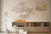 Life Moments MURAL WALL ART STICKER  QUOTE DIY Home Decor Wall Decals & Stickers