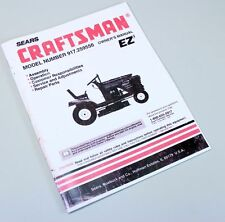 CRAFTSMAN 917.259556 LAWN MOWER GARDEN TRACTOR OWNERS OPERATORS PARTS MANUAL