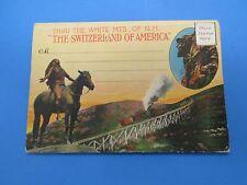 Vintage Souvenir Postcard Folder White MTS. NH The Switzerland of America S205