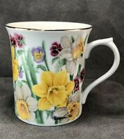 Vintage Lenox Flower Blossom Collection Daffodil Suzanne Clee Mug Cup Porcelain