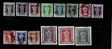 India Stamps-Scott # O137-O150/A09-A10-Near Set-Canc/LH-1958-71-Official-NG