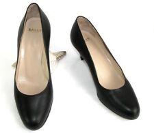 BALLY SWISS - Court shoes CORTINA BOTTALATO Black leather 37 E - MINT