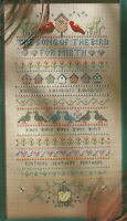 Song of the Bird Sampler Counted Cross Stitch Pattern Chart from a publication