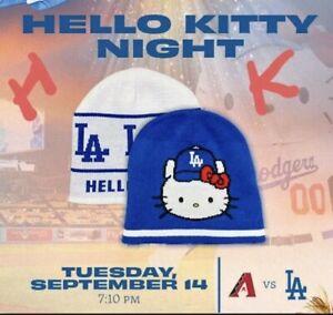 LA Dodgers Hello Kitty Night Knit Cap Beanie, 09/14/21 Special Ticket SGA, New