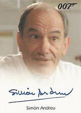 """James Bond 50th Anniversary - Simon Andreu """"Dr Alvarez"""" Autograph Card"""