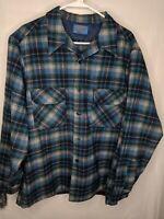 Vintage pendleton Virgin Wool Flannel Shirt XL