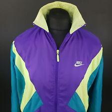 NIKE Mens Vintage Tracksuit Windbreaker Track Top Shell Jacket  SMALL Purple