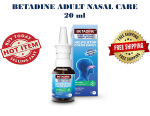 NEW BETADINE ADULT COLD DEFENCE NASAL SPRAY 20ML FREE SHIPPING EXP 2023