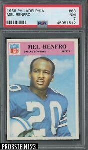 1966 Philadelphia Football #63 Mel Renfro Dallas Cowboys HOF PSA 7 NM