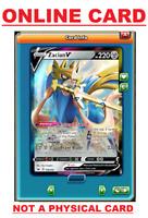 Zacian V - 138/202 Sword & Shield Ultra Rare PTCGO ONLINE Pokemon Card