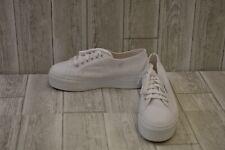 Superga 2790 Acotw Platform Canvas Sneakers, Men's 8.5, Women's 10, White