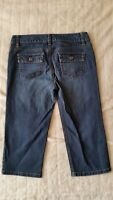 "ANN TAYLOR Lower on Waist Capri Jean Denim 4P Slim Fit Cropped Waist/30"" Ins/17"""