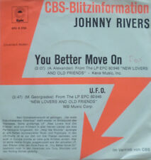 "7"" 1975 CBS BLITZ PROMO CV ROLLING STONES MINT- JOHNNY RIVERS You Better Move On"