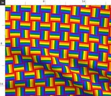 Woven Rainbow Pride Spoonflower Fabric by the Yard