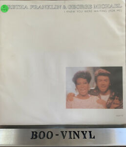 ARETHA FRANKLIN+GEORGE MICHAEL I KNEW YOU WERE WAITING 12 INCH SINGLE VINYL EX