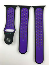 Original Apple watch Series 5 4 3 2 Nike Sport Band 42mm 44mm Black/Hyper Grape